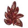 Motif Sequin & Bead Leaves Red 9X7.5cm